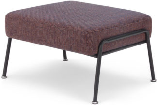 An Image of Knox Footstool, Blue Rosa Weave