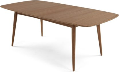An Image of Deauville 6-8 Seat Extending Dining Table, Dark Stain Oak