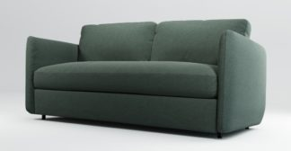 An Image of Custom MADE Fletcher 3 Seater Sofabed with Memory Foam Mattress, Woodland Green