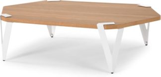 An Image of Viggo Coffee Table, Oak and White