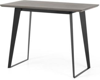 An Image of Boone Bar Table, Grey Concrete Resin Top