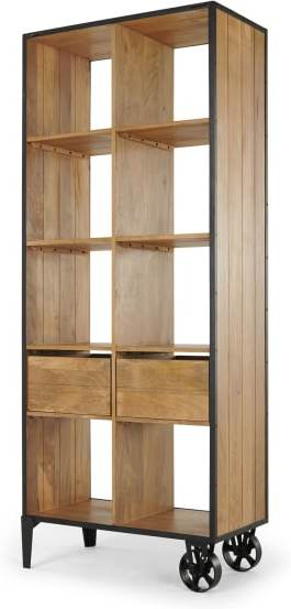 An Image of Humphrey Shelving Unit with Storage, Mango Wood