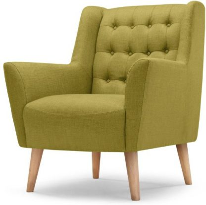 An Image of Quentin Armchair, Lemongrass Green