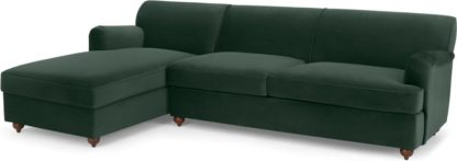 An Image of Orson Left Hand Facing Chaise End Sofa Bed, Autumn Green Velvet
