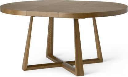 An Image of Belgrave 4- 6 Seat Round Extending Dining Table, Dark Stained Oak
