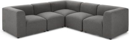 An Image of Juno 5 Seater Corner Sofa, Marl Grey