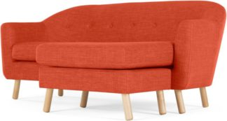 An Image of Lottie Compact Chaise End Sofa, Tuscan Orange