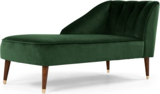An Image of Margot Left Hand Facing Chaise Longue, Forest Green Velvet