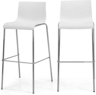 An Image of Set of 2 Piloti Barstools, White