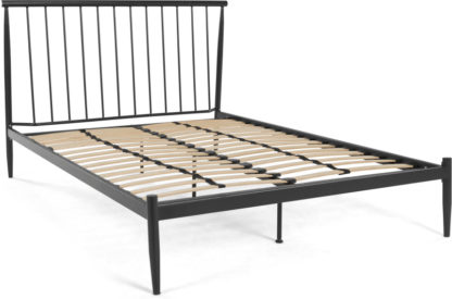 An Image of MADE Essentials Penn Kingsize Bed, Black