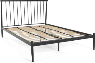 An Image of MADE Essentials Penn Super Kingsize bed, Black