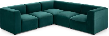 An Image of Juno 5 Seater Corner Sofa, Seafoam Blue Velvet