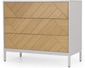 An Image of Mera Chest of Drawers, Oak & Grey