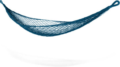 An Image of Rika Small Woven Hammock, Teal