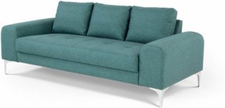 An Image of Vittorio 3 Seater Sofa, Teal