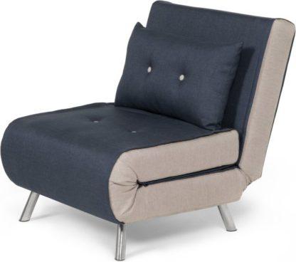 An Image of Haru Single Sofa Bed, Quartz Blue