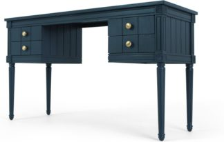 An Image of Bourbon Vintage Desk, Dark Blue