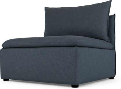 An Image of Victor Modular Sofa Storage Single Seat, Lido Blue