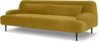 An Image of Giselle 3 Seater Sofa, Vintage Gold Velvet
