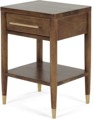 An Image of Hix Bedside Table, Mango & Brass
