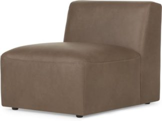 An Image of Juno Modular Single seat, Columbus Brown Leather