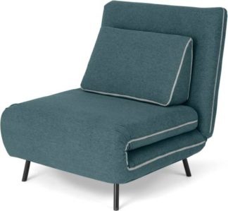 An Image of Kahlo Single Seat Sofa Bed, Sherbet Blue