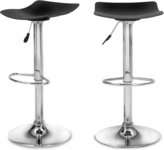 An Image of Set of 2 Kite Adjustable Barstools, Black
