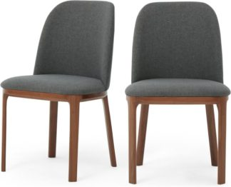 An Image of Set of 2 Nuno Dining Chairs, Walnut