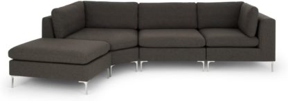 An Image of Monterosso Left Hand Facing Modular Chaise End Sofa, Oyster Grey