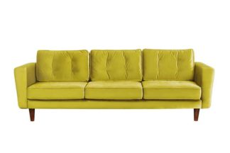 An Image of Luciene 3 seat sofa Genova Olive