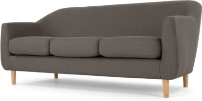 An Image of Tubby 3 Seater Sofa, Pewter Grey