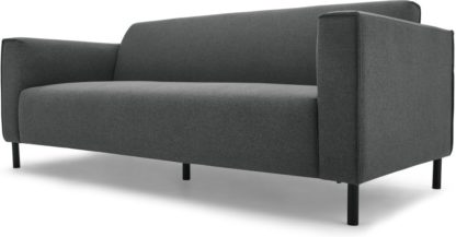 An Image of MADE Essentials Herron 3 Seater Sofa, Marl Grey