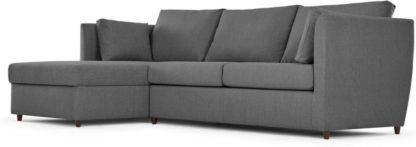 An Image of Milner Left Hand Facing Corner Storage Sofa Bed with Memory Foam Mattress, Night Grey