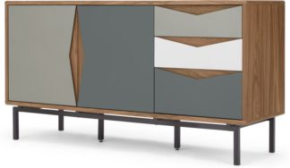 An Image of Louis sideboard, walnut and grey