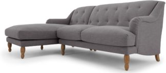 An Image of Ariana Left Hand Facing Chaise End Corner Sofa, Graphite Grey