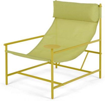 An Image of MADE Essentials Danta Garden Chair, Chartreuse