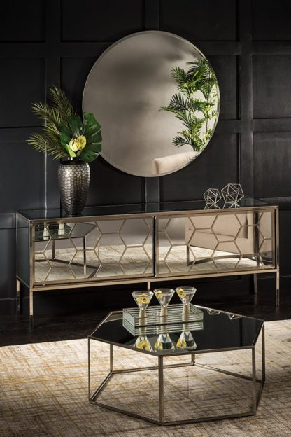 An Image of Alveare Brushed Steel Sideboard