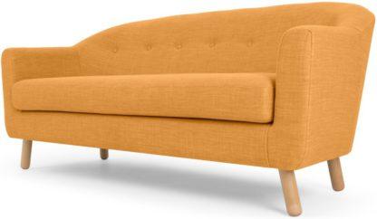 An Image of Lottie 3 Seater Sofa, Honey Yellow