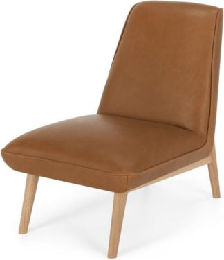 An Image of Eldin Accent Chair, Hampton Brown Leather