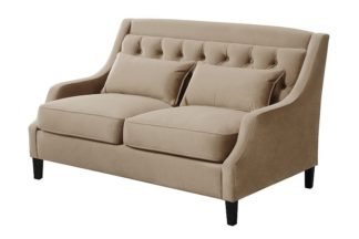 An Image of Zeno 2 seat Sofa Latte