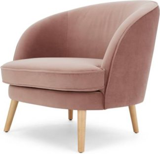 An Image of Gertie Accent Armchair, Vintage Pink Velvet