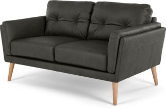 An Image of Sampson 2 Seater Sofa, Liberty Grey Leather
