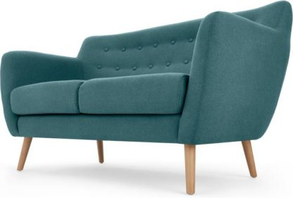 An Image of Rana 2 Seater Sofa, Mineral Blue