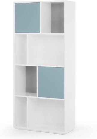 An Image of Stretto Tall Shelves, Grey and Blue