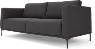 An Image of Milo Large 2 Seater Sofa, Space Grey