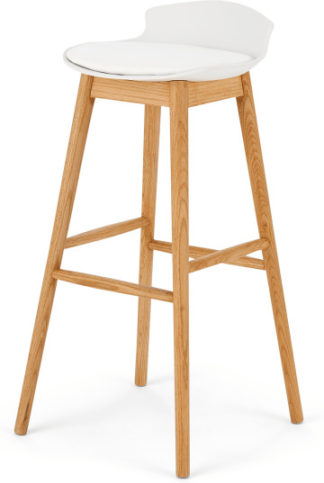 An Image of Thelma Bar Stool, Oak and White