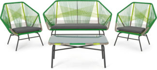 An Image of Copa Garden Lounge Set, Citrus Green