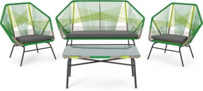 An Image of Copa Garden Lounge Set, Citrus Green