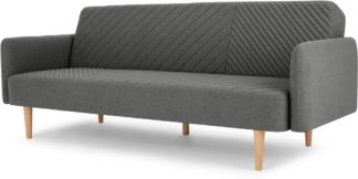 An Image of Ryson Click Clack Sofa Bed with Arms, Marl Grey
