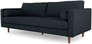 An Image of Scott 3 Seater Sofa, Textured Weave Navy